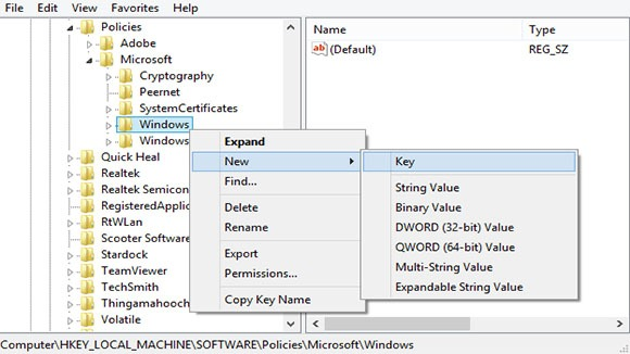 how to set number lock in windows 8