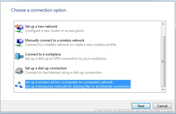 Setting Up Adhoc Network Windows 7