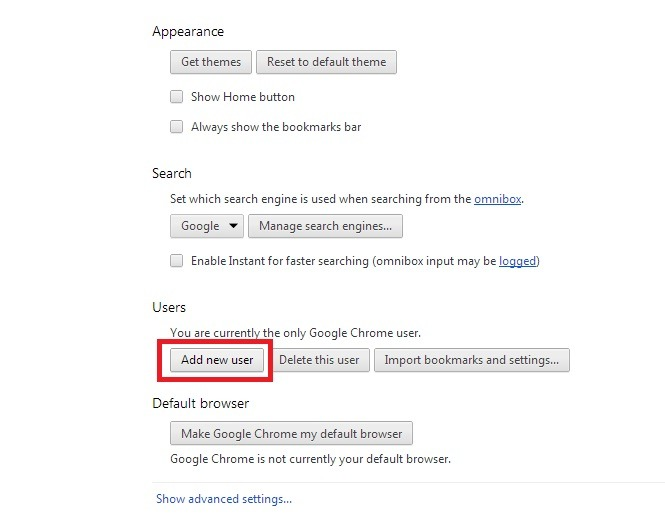 Google Chrome Multiple Profiles