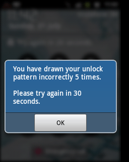 Forgot Pattern Lock in Android - Step 1