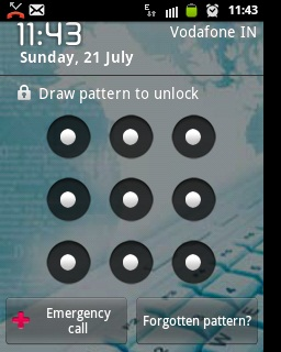Forgot Pattern Lock in Android - Step 2