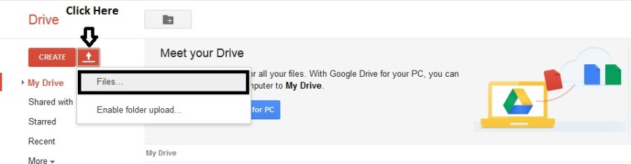 How to Share Google Drive Download Links For Uploaded Files - 1