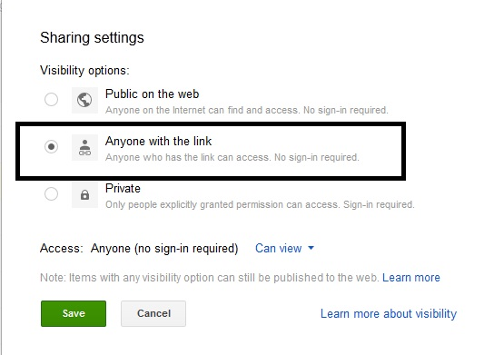 How to Share Google Drive Link - 4