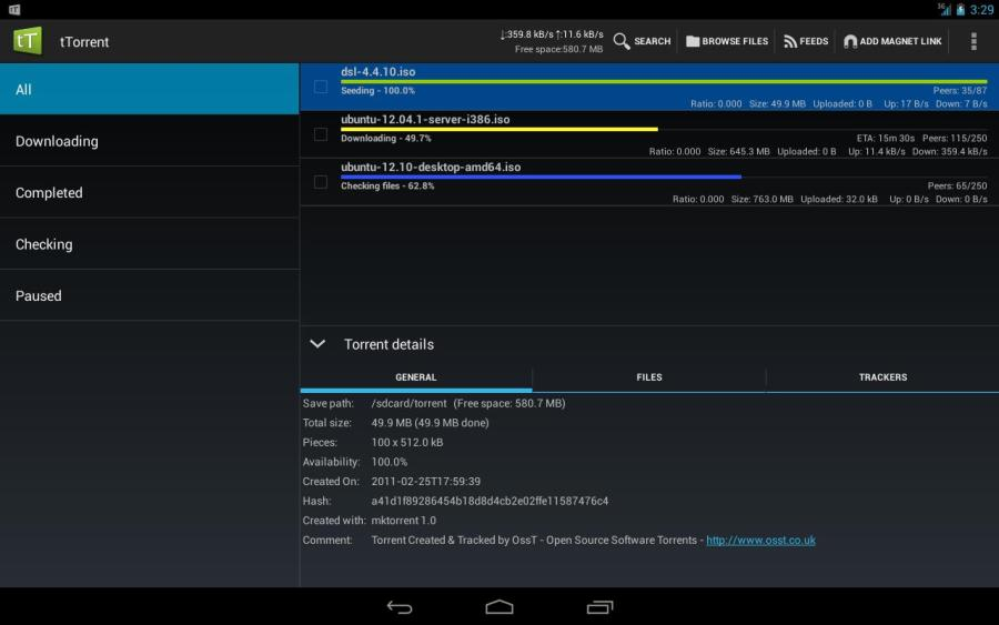 How to Download Torrent Files on Android - tTorrent Lite