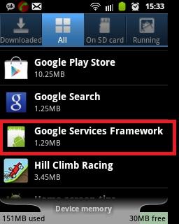 Google Services Framework
