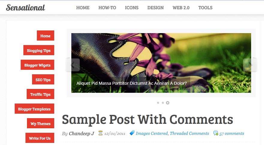 Best FREE Responsive Templates for Blogger - Sensational