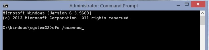 Windows 8 Activation Error 0xC004F074 - sfc /scannow Command