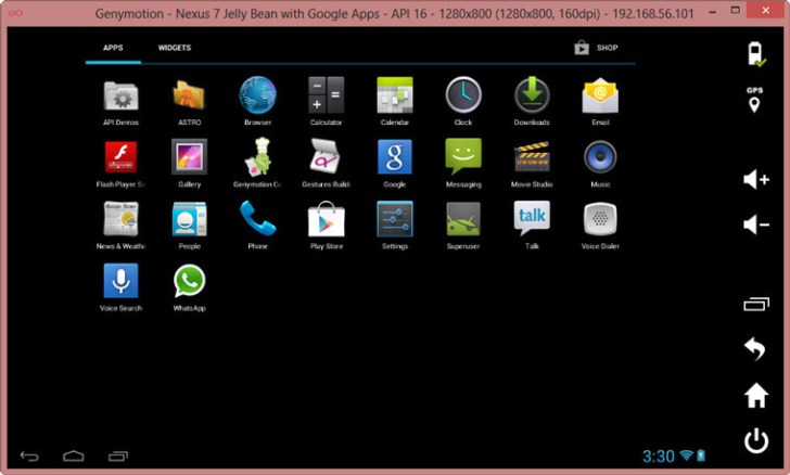 Bluestacks Alternatives 2014 - GenyMotion Android Emulator