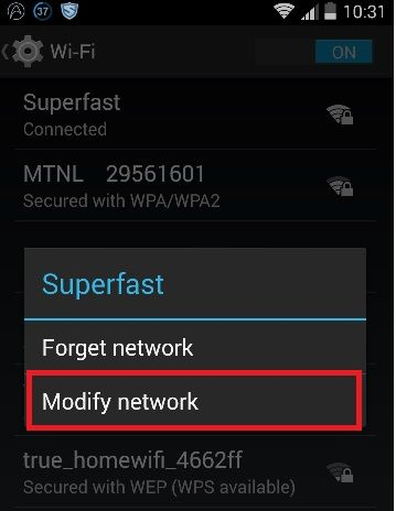 How to Fix Obtaining IP Address Error in Android WiFi Problem - 4