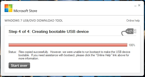 Fix Unable to run bootsect to make the USB device bootable