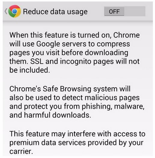 How to Reduce Data Usage in Android -- Google Chrome