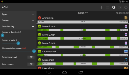 Advanced Download Manager for Android