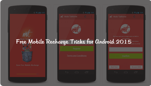 Free Mobile Recharge Tricks for Android 2015