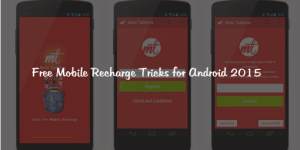 Free Mobile Recharge Tricks for Android 2015 : Apps