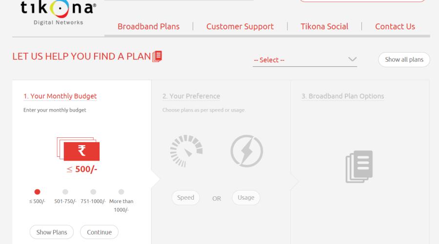Tikona Broadband Plans - 1