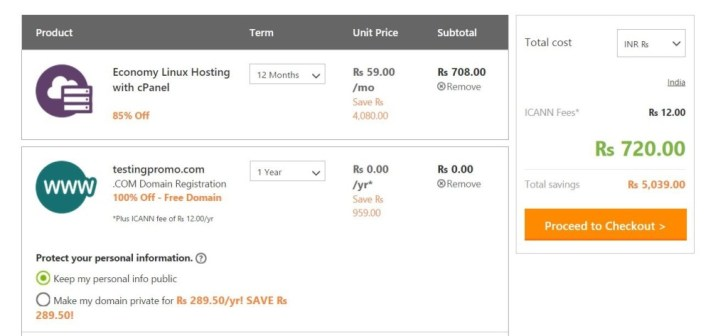 GoDaddy Hosting : GoDaddy India Promo Code