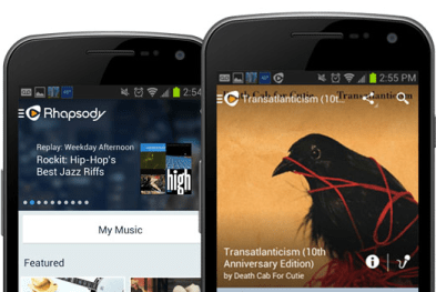 Best MP3 Downloader for Android - RHAPSODY