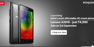 Lenovo A2010 Review Launched @Rs 4,990 Only