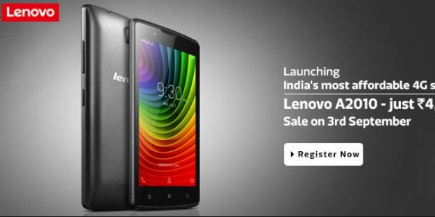 Best Android Smartphones Under Rs 5000 - Lenovo A2010