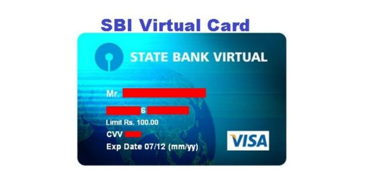 How to Create SBI Virtual Card Online - 3