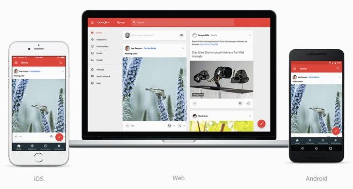 Google Plus Revamped UI