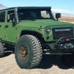Jeep Wrangler Army Green 6 6 Is Meant For Serious Off Roading Bruiser Conversions