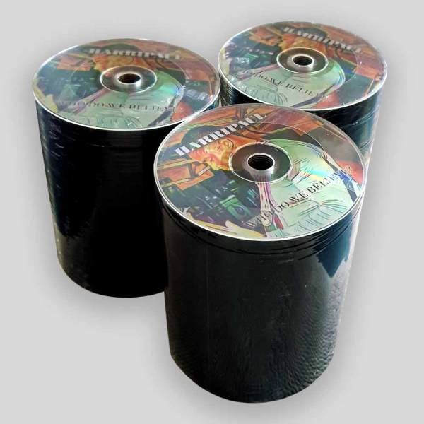 silver base disc with full colour printing