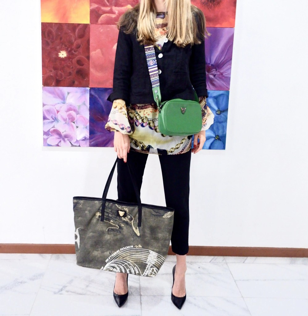 Wearing 2 bags for Style and Convenience