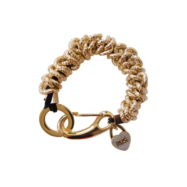 Gold Caterpillar Bracelet 1