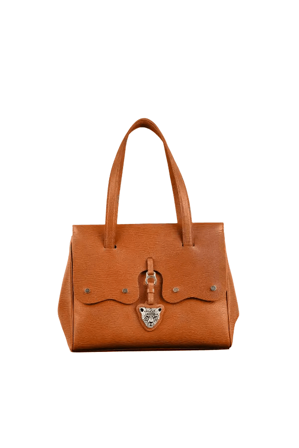 Tan Brown Leather Fiore Bag