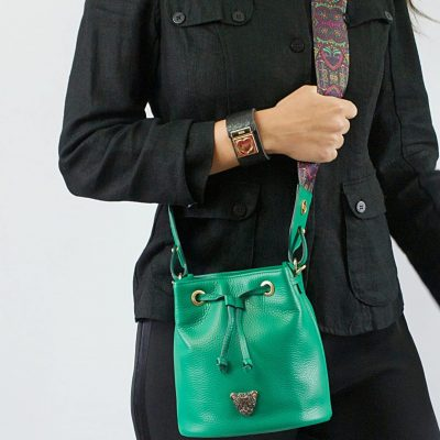 City Bucket Bag - Green bucket bag