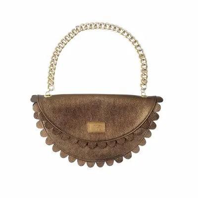 Daisy 2.0 - Bronze clutch bag