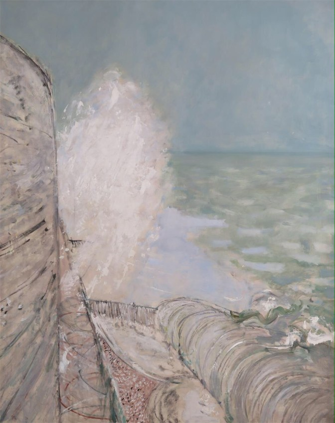 painting of winter sea