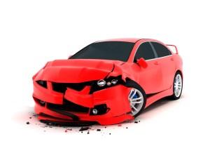 Newport Beach Car Accident Attorney - red car damaged