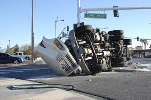 Orange county truck accident - Truck flipped over