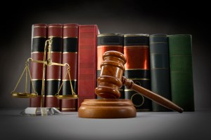 Long Beach Injury Attorney gavel balance books