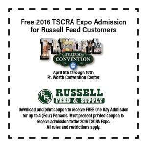 Free TSCRA Expo Admission