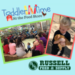 Russell Feed Toddler Time with 8 locations in Fort Worth and surrounding areas.
