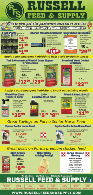 March Star Telegram Savings at Russell Feed and Supply.