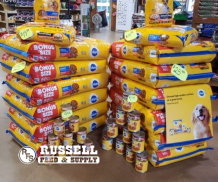 Pedigree Dog Food at Russell Feed and Supply in Ft. Worth, Texas.