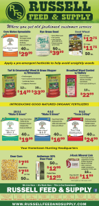 September Star Telegram Ad from Russell Feed and Supply.