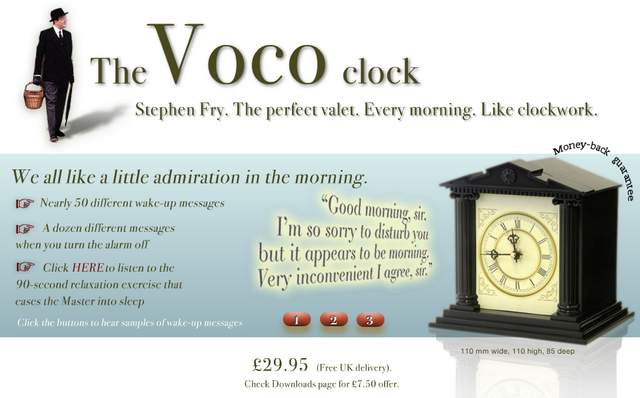 Own Personal Butler In An Alarm Clock