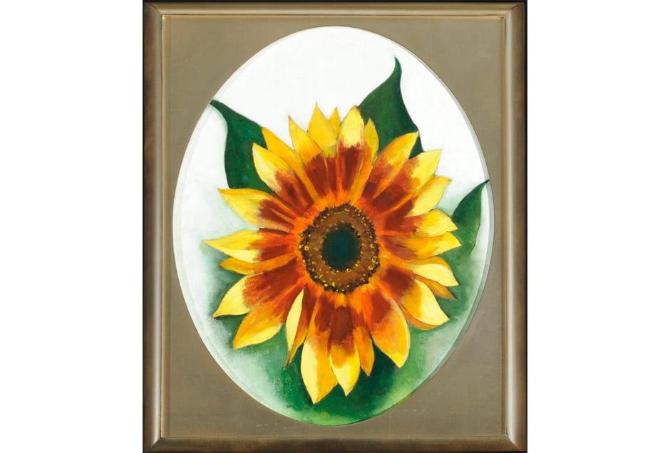 GEORGIA_OKEEFFE_Sunflower-Framed