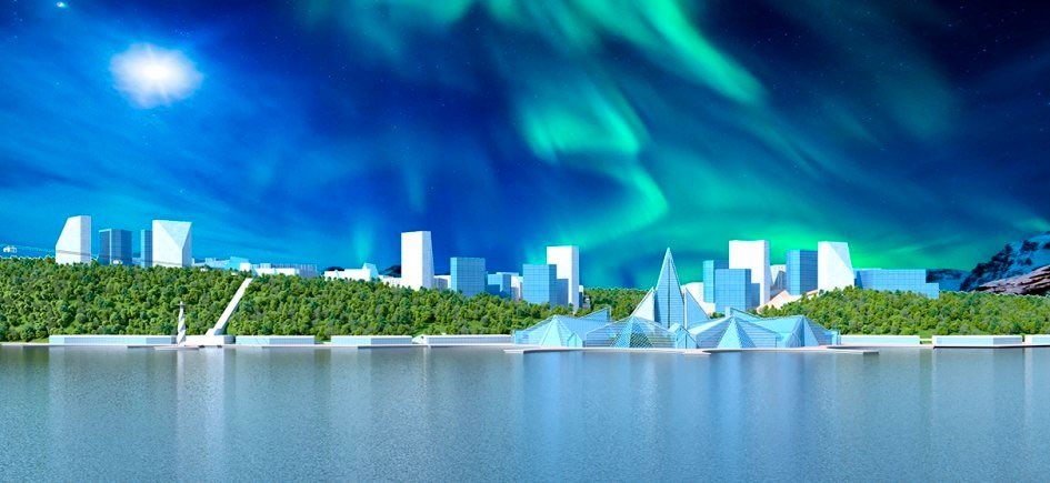 Artists Impression of the New Murmansk Waterfront