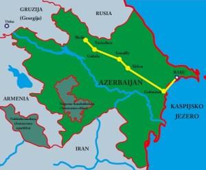 Mapa Azerbajdžan