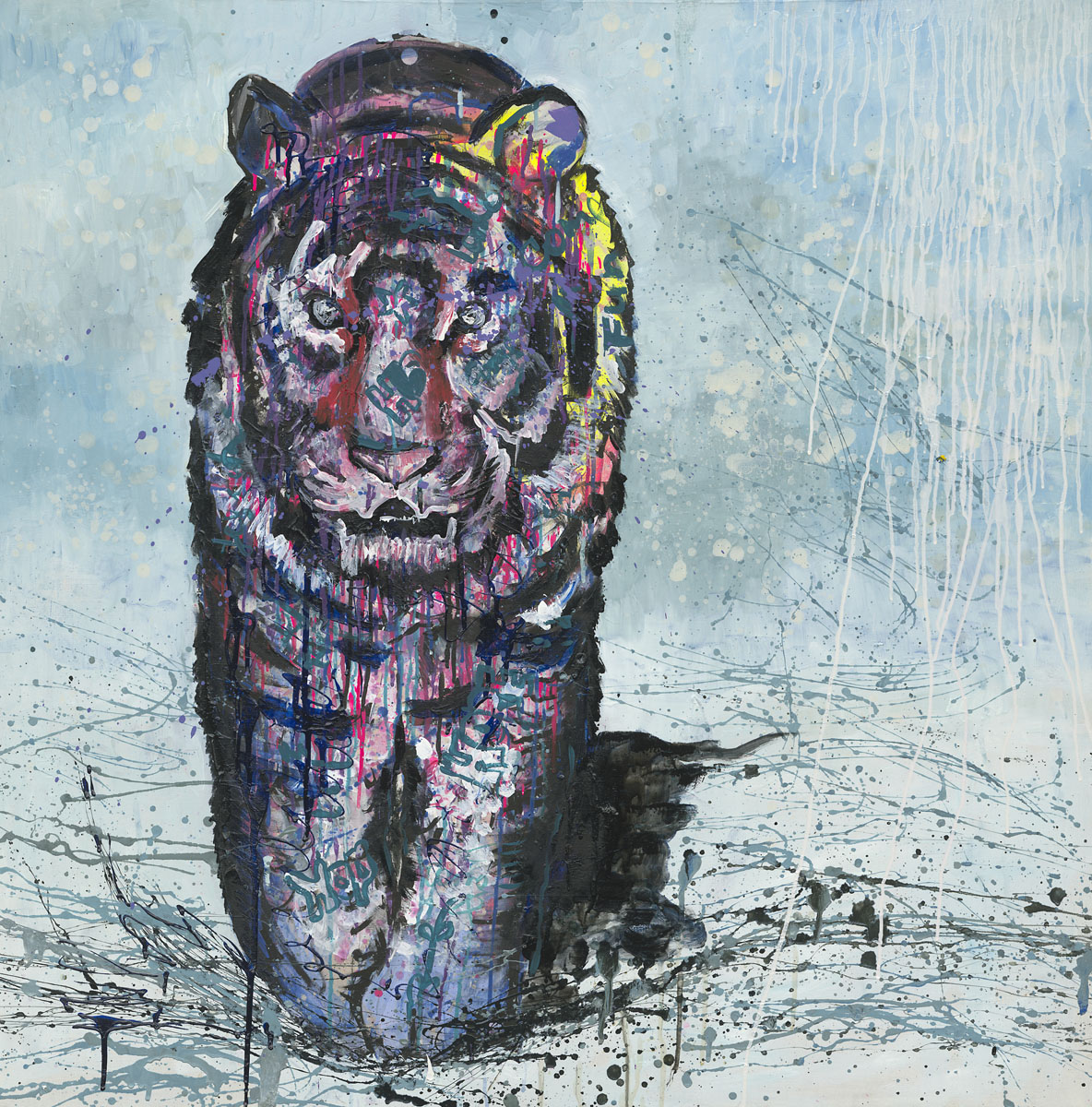 Amur tiger, by Katya Krasnaya