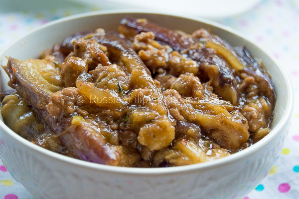 Eggplant With Ground Pork Russian Filipino Kitchen