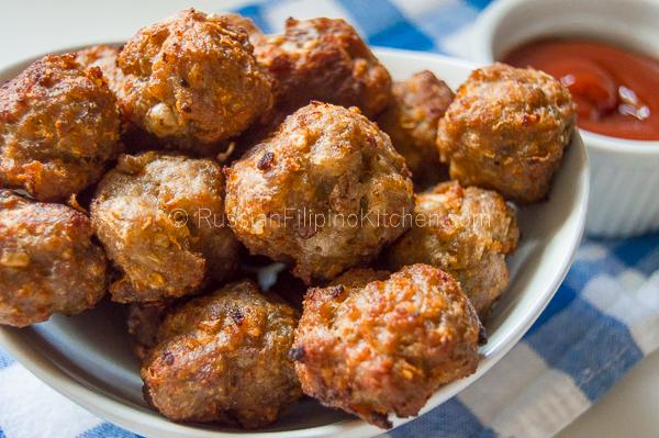 Easy Pork Meatballs Filipino Style Bola Bola Russian