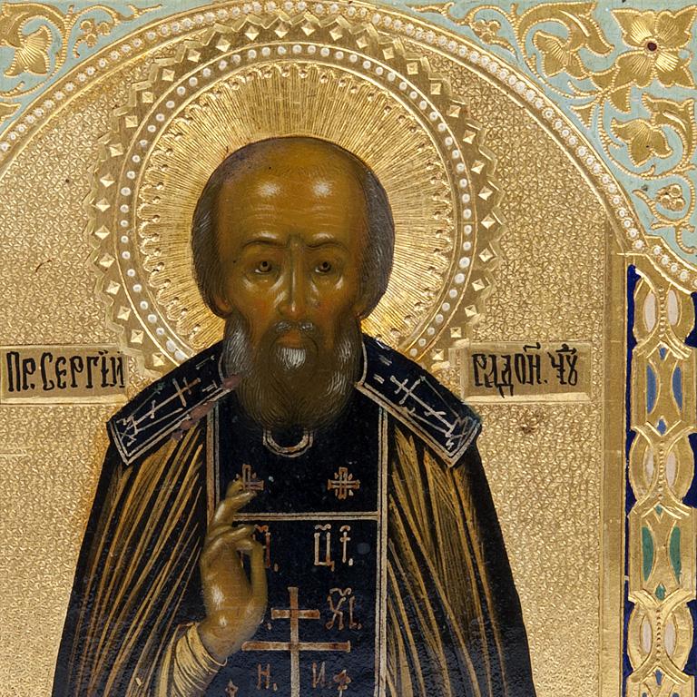 Icon of Saint Sergius of Radonezh