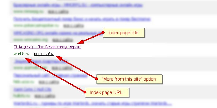 Backlink checking interface in Yandex Webmaster tools